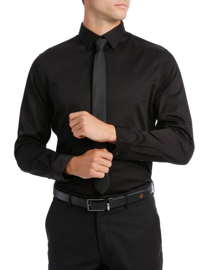 BLAQ SLIM FIT BSHW19001 BLACK COTTON STRETCH image 1