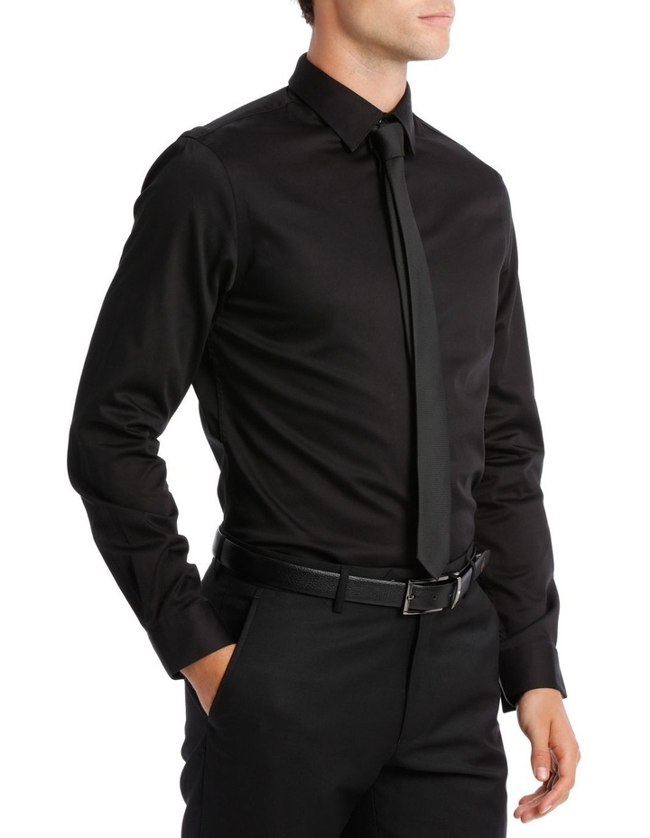 BLAQ SLIM FIT BSHW19001 BLACK COTTON STRETCH image 2