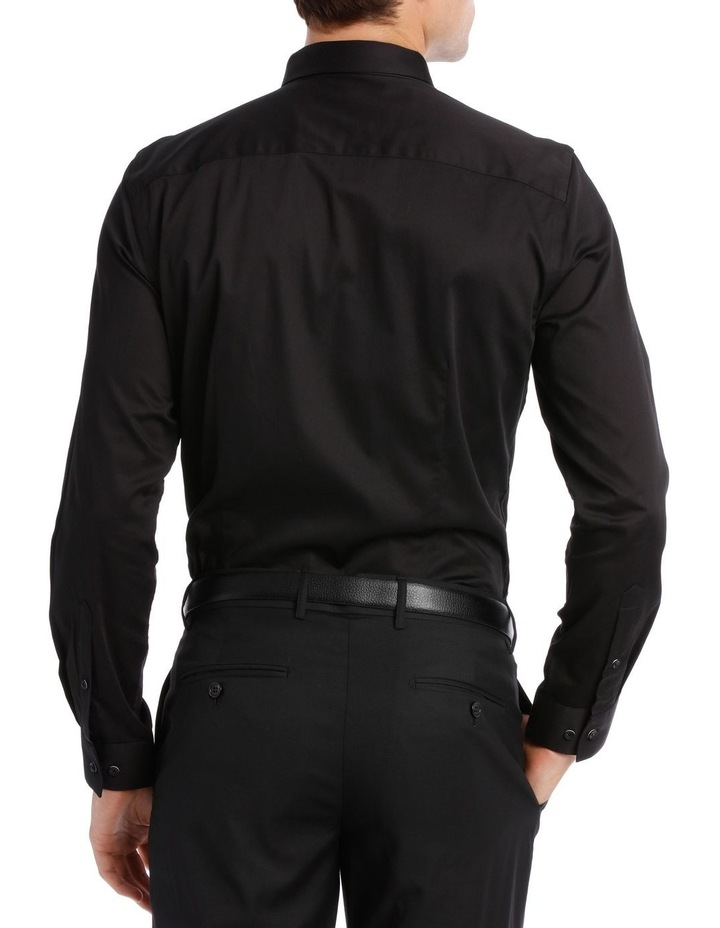 BLAQ SLIM FIT BSHW19001 BLACK COTTON STRETCH image 3