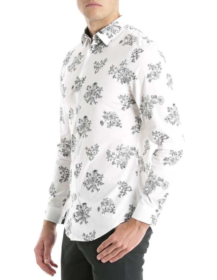 Slim Fit Black And White Flower Print image 2