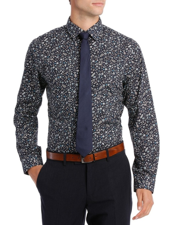 Tailored Fit Navy Flower Print image 1