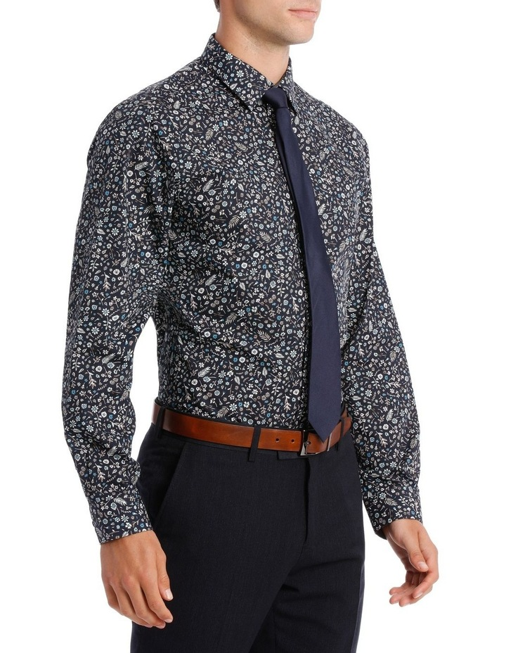 Tailored Fit Navy Flower Print image 2