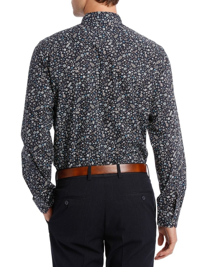Tailored Fit Navy Flower Print image 3