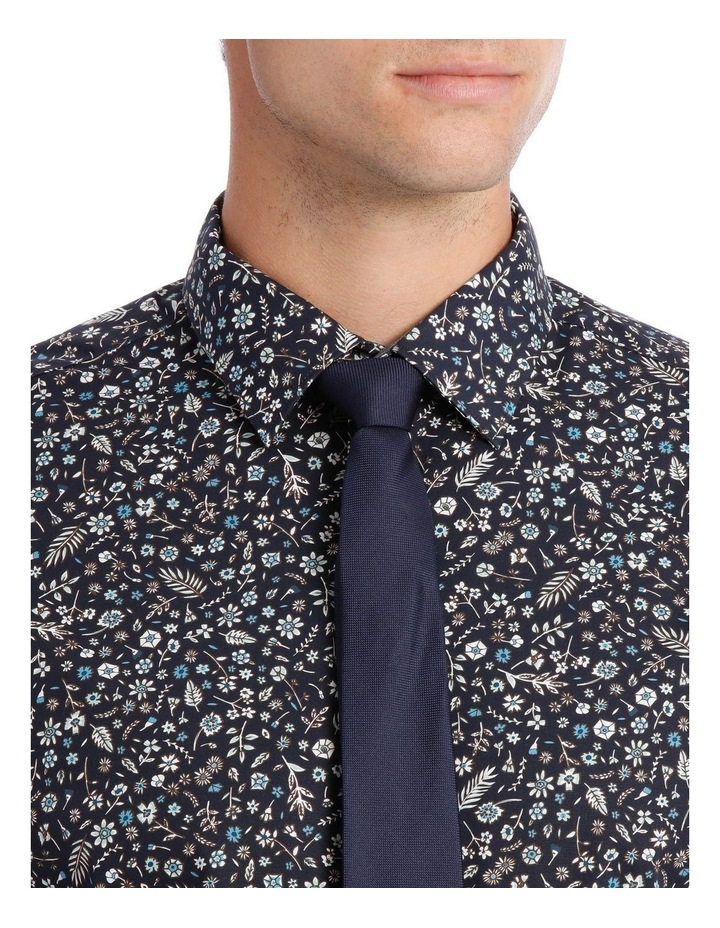 Tailored Fit Navy Flower Print image 4