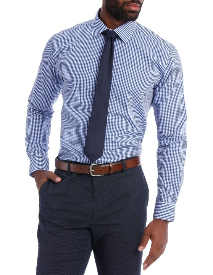 Classic Fit Navy And White Gingham image 1