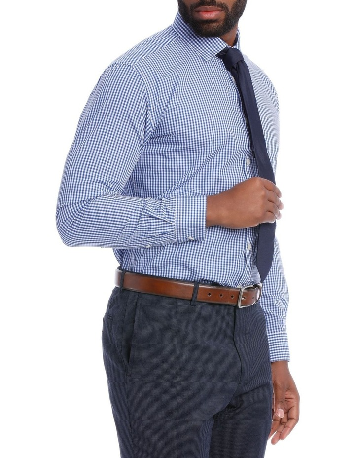 Classic Fit Navy And White Gingham image 2