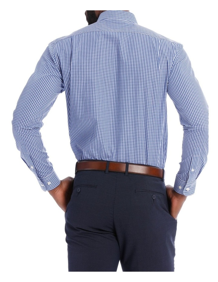 Classic Fit Navy And White Gingham image 3