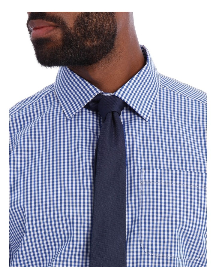 Classic Fit Navy And White Gingham image 4
