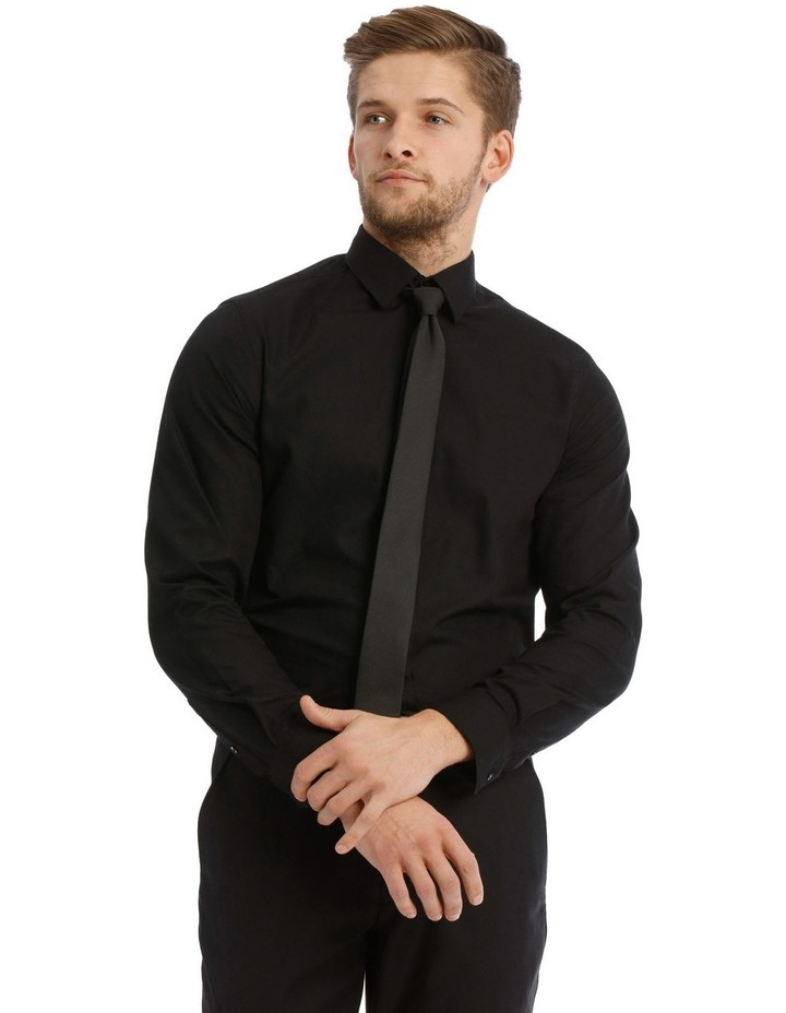 Tailored Fit Black Twill image 1