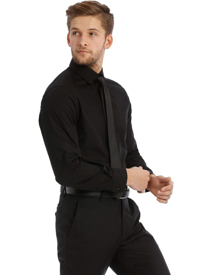 Tailored Fit Black Twill image 2