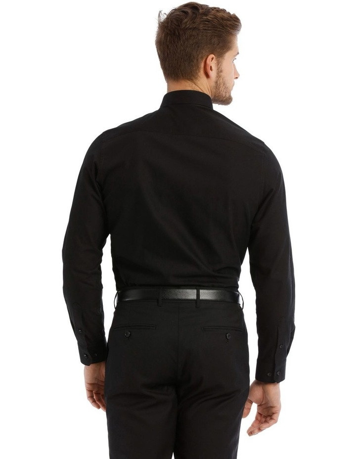 Tailored Fit Black Twill image 3