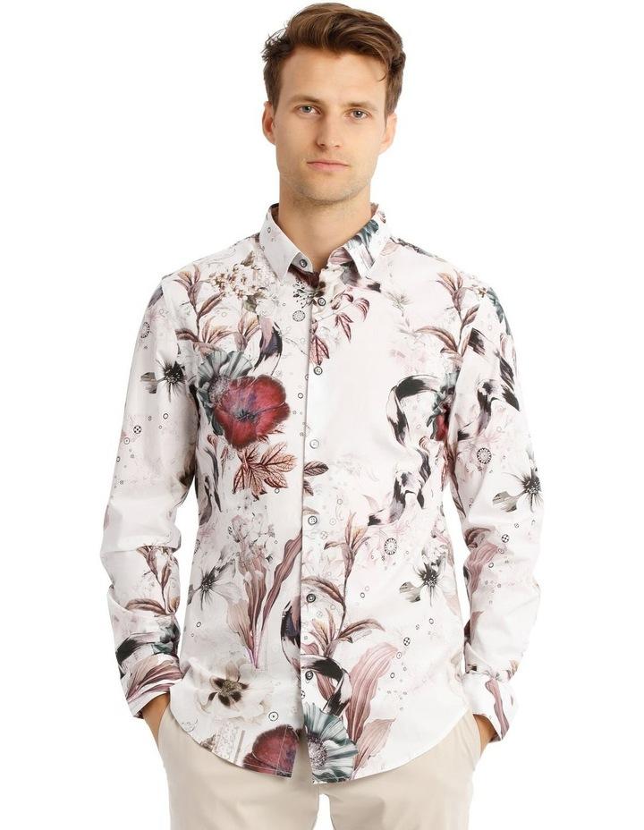 Mr Gatz Floral Print Long Sleeve Slim Fit Shirt image 1