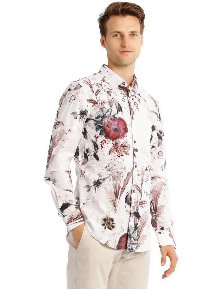 Mr Gatz Floral Print Long Sleeve Slim Fit Shirt image 2