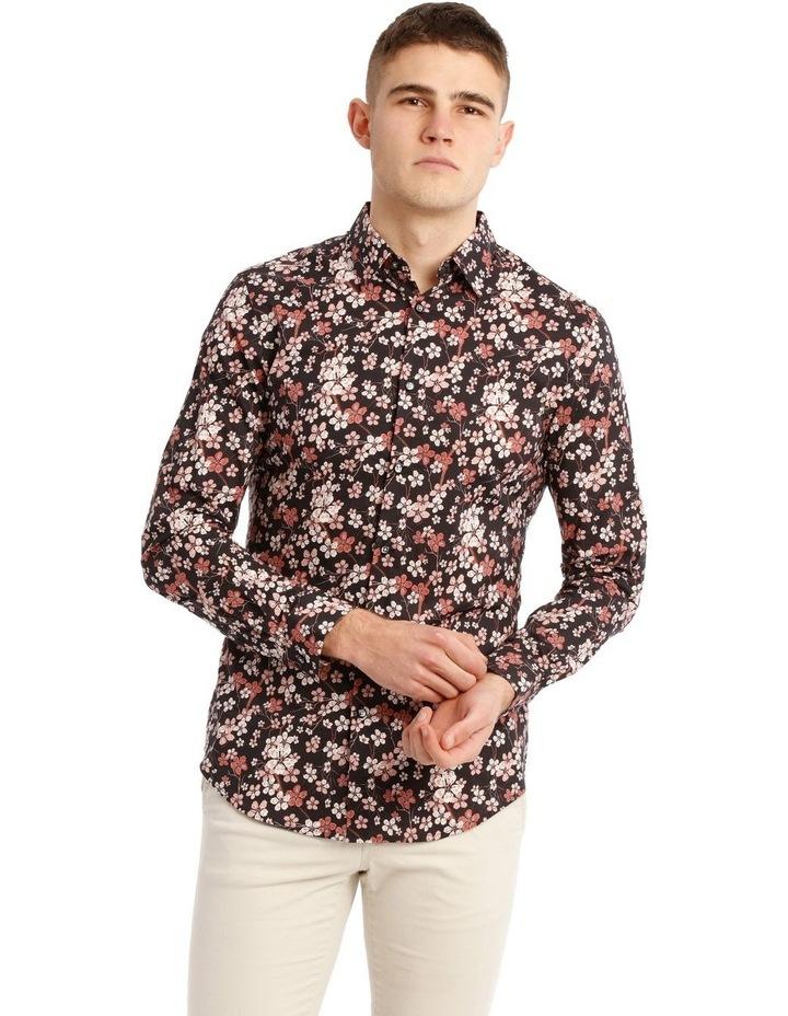 Myrtle Blossom Print Long Sleeve Slim Fit Shirt image 1