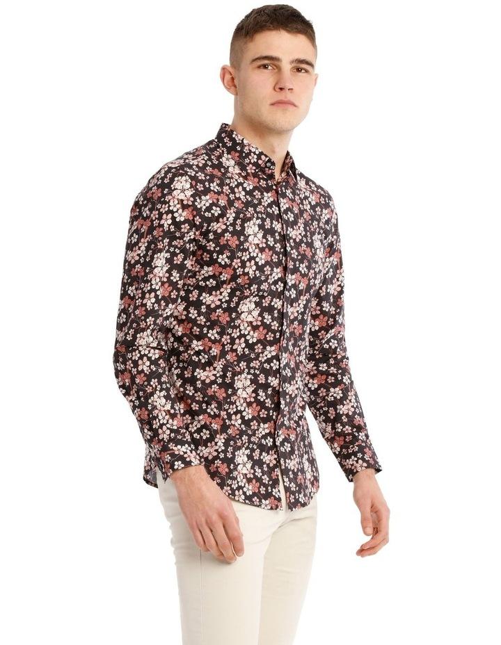 Myrtle Blossom Print Long Sleeve Slim Fit Shirt image 2