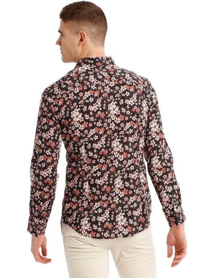 Myrtle Blossom Print Long Sleeve Slim Fit Shirt image 3