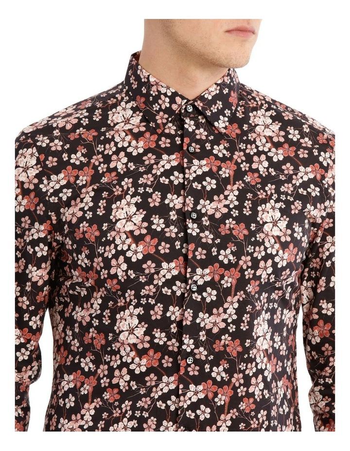 Myrtle Blossom Print Long Sleeve Slim Fit Shirt image 4