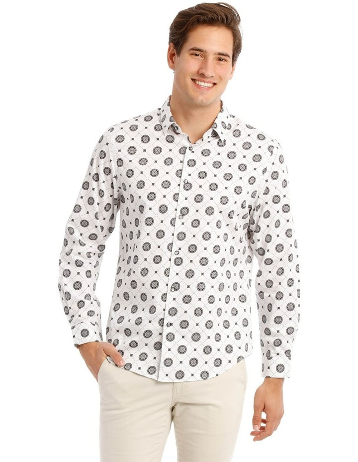 Wolfshem Graphic Print Long Sleeve Tailored Fit Shirt image 1