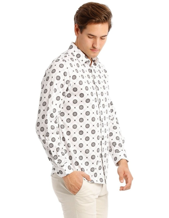 Wolfshem Graphic Print Long Sleeve Tailored Fit Shirt image 2