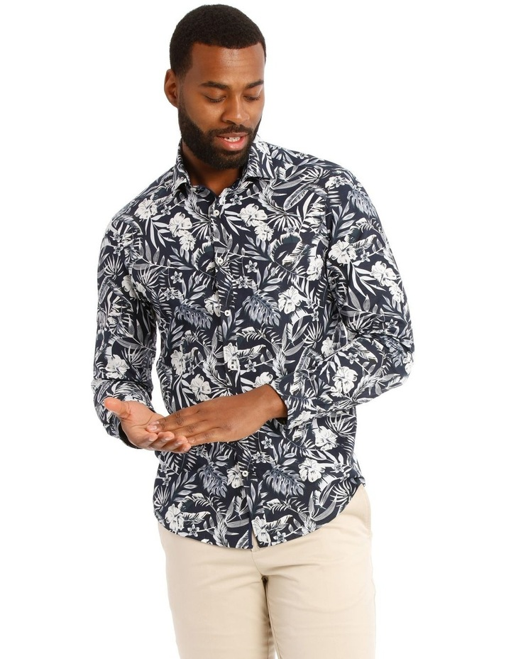 Casablanca Floral Printed Long Sleeve Shirt image 1