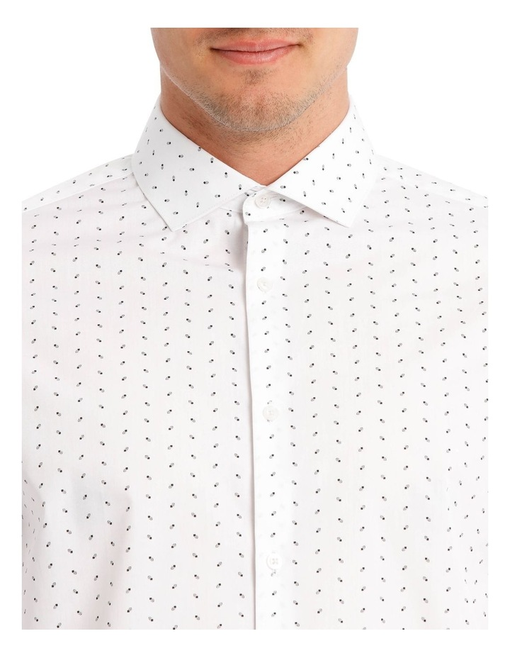 Tailored Black Square Print Dress Shirt image 4