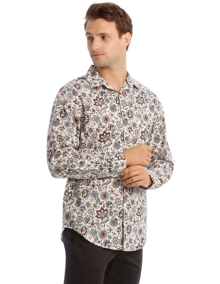 Sonny Floral Print Long-Sleeve Shirt In White image 2