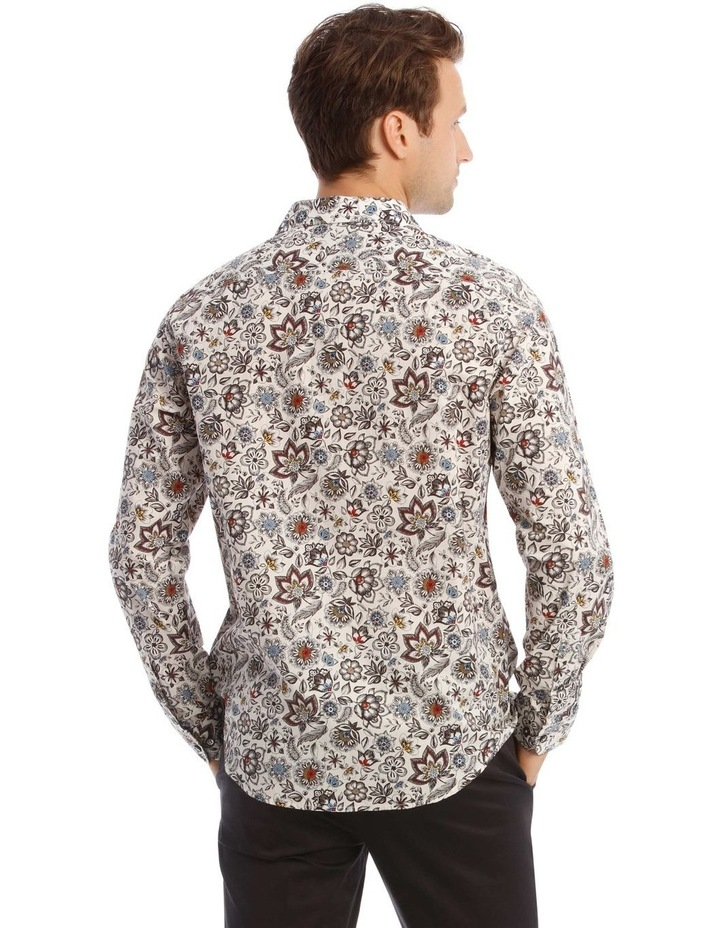 Sonny Floral Print Long-Sleeve Shirt In White image 3