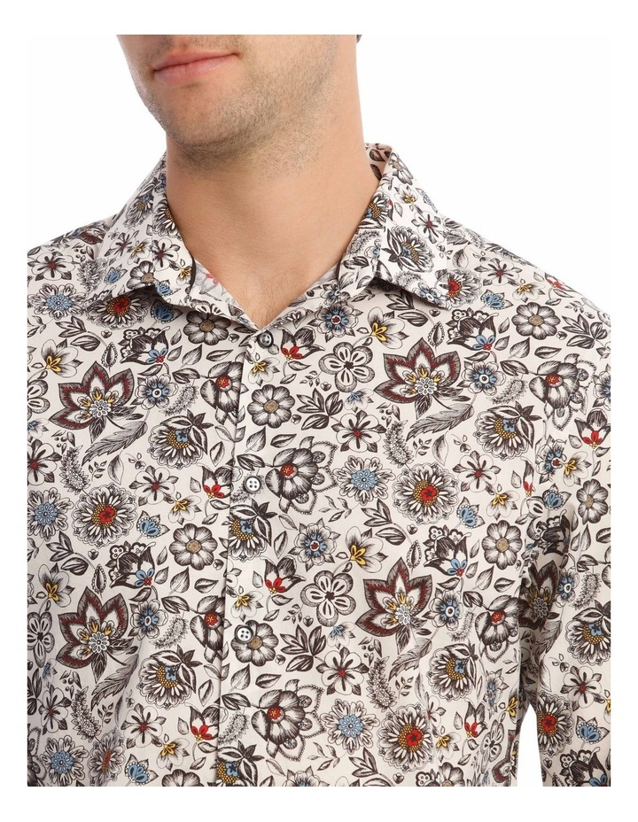 Sonny Floral Print Long-Sleeve Shirt In White image 4