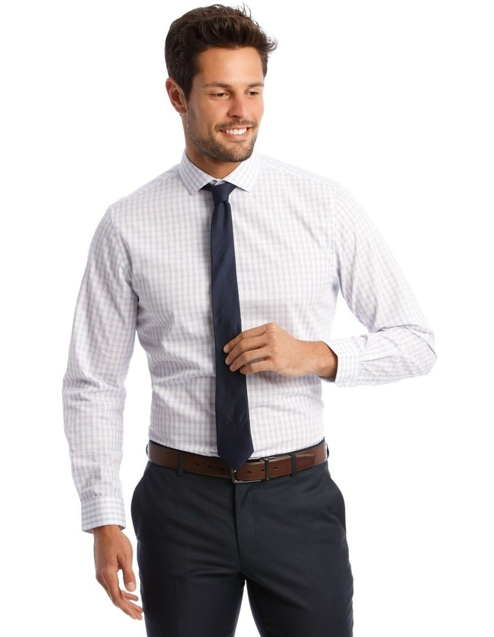 Tailored Purple Check Shirt image 1