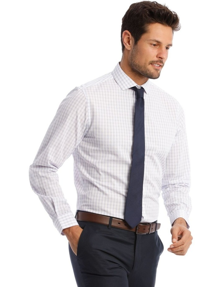 Tailored Purple Check Shirt image 2