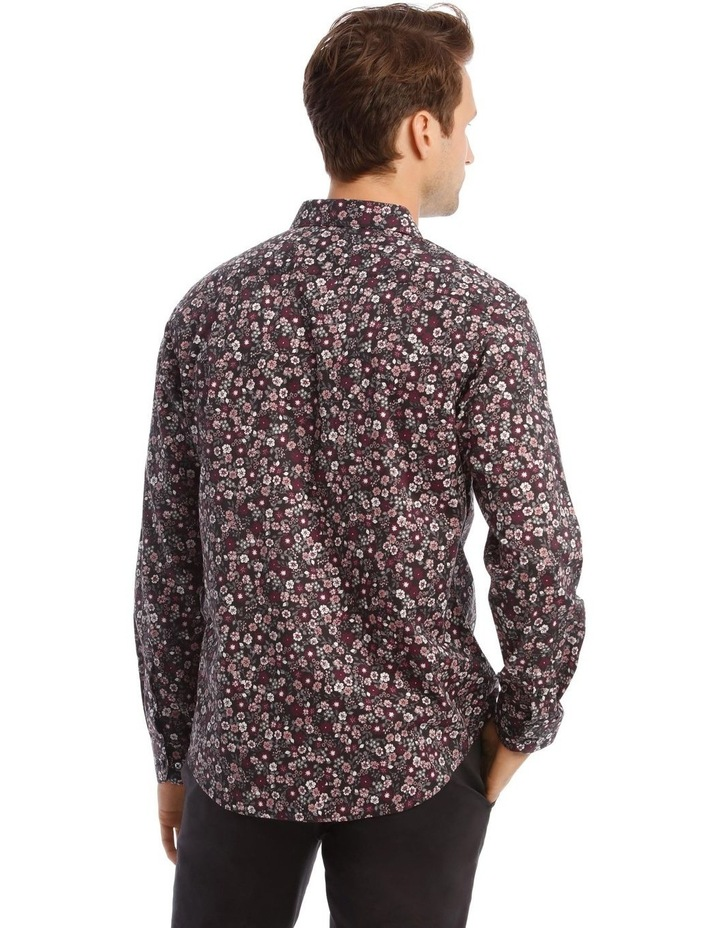 Floral Print Long-Sleeve Shirt In Purple image 3