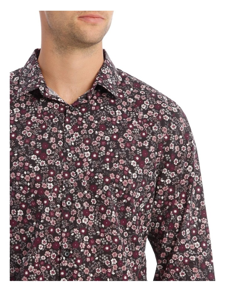 Floral Print Long-Sleeve Shirt In Purple image 4