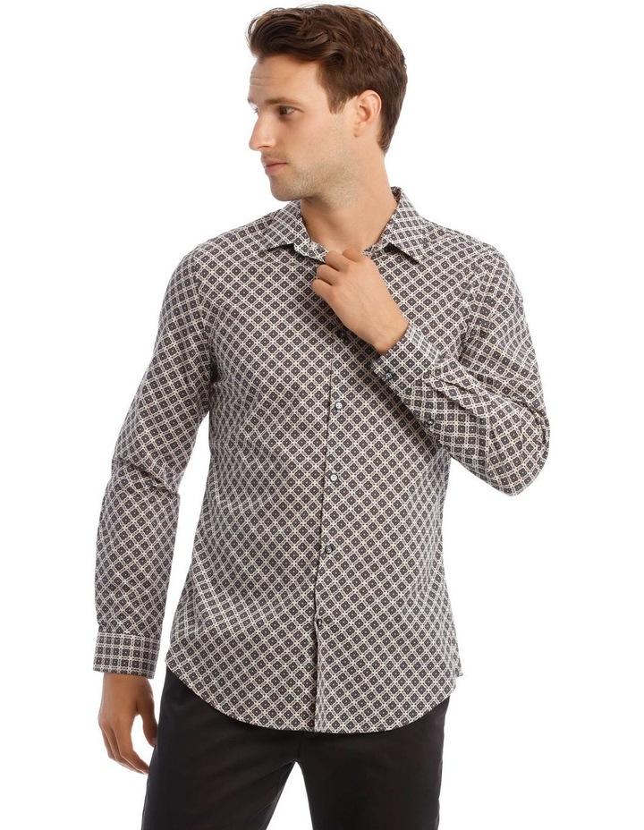 Lennie Geometric Slim Long-Sleeve Shirt image 1