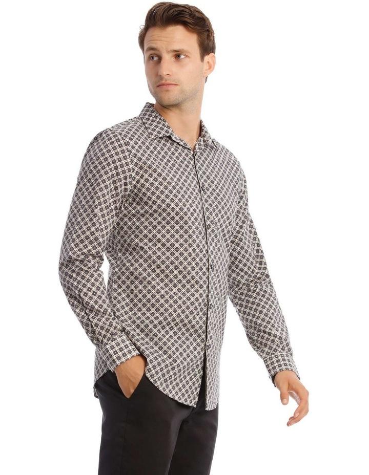 Lennie Geometric Slim Long-Sleeve Shirt image 2