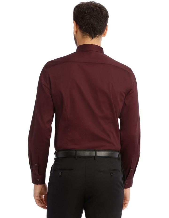 Burgundy Cotton Stretch image 3