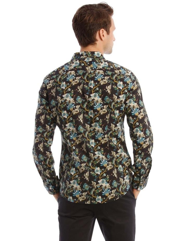 Bluebird Floral Slim Long-Sleeve Shirt In Black image 3