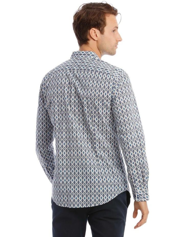 Night Fever Diamond Slim Long-Sleeve Shirt In White image 3