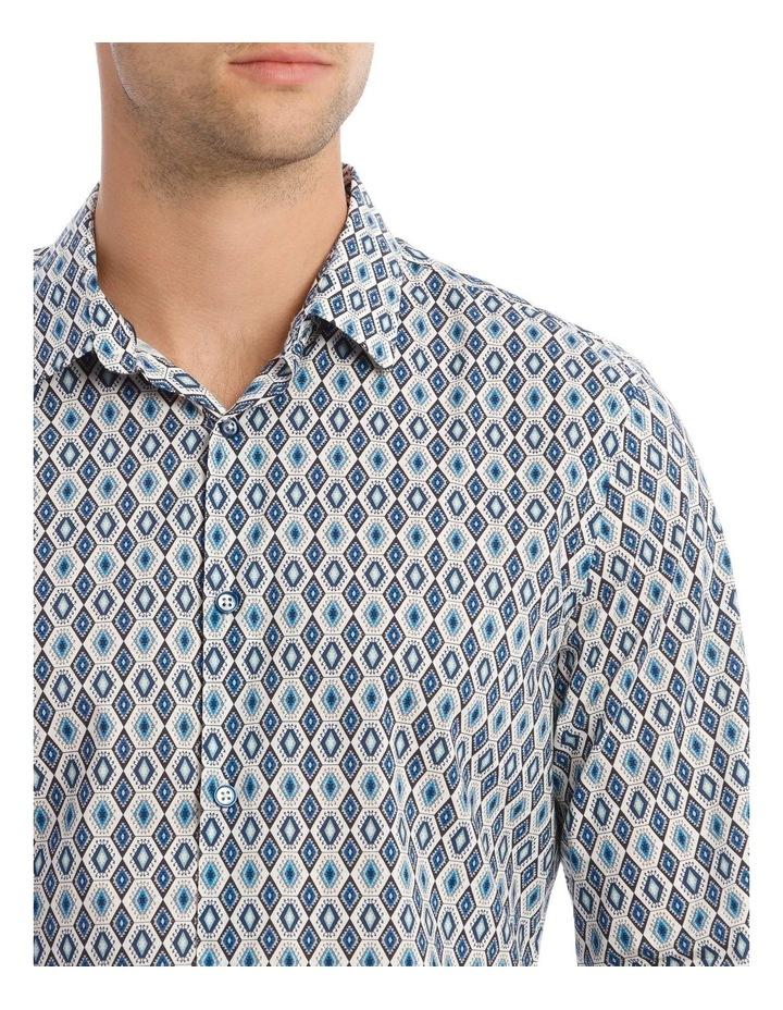 Night Fever Diamond Slim Long-Sleeve Shirt In White image 4