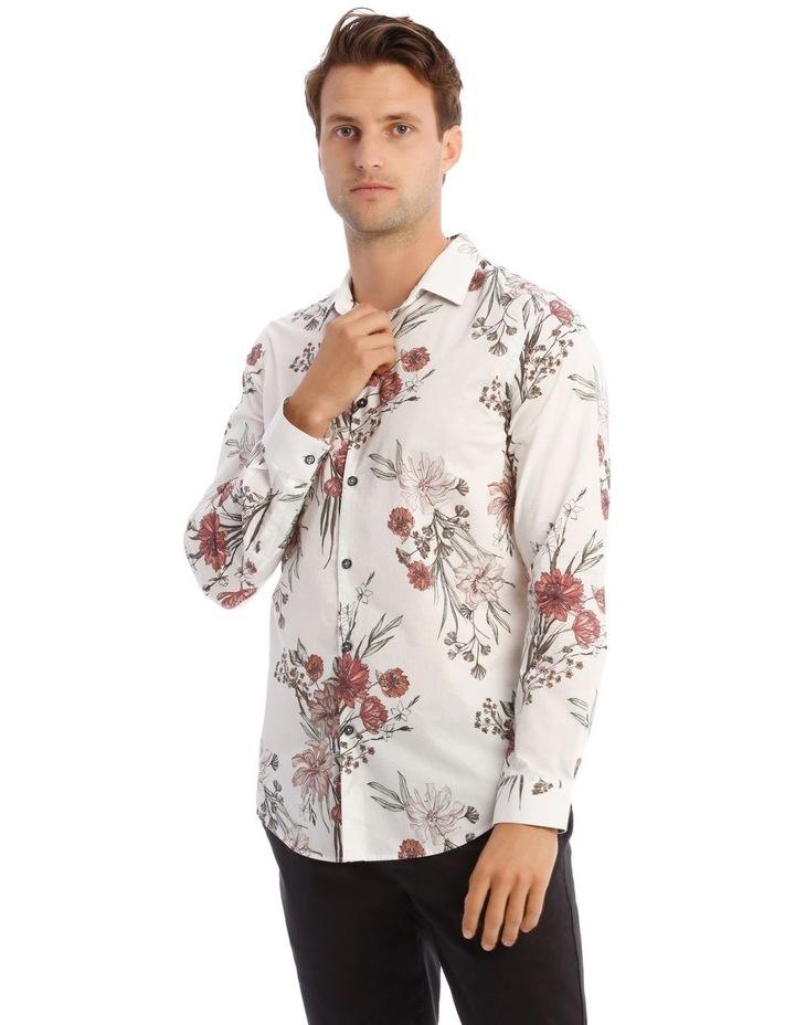 Wonder Floral Slim Long-Sleeve Shirt In White image 1