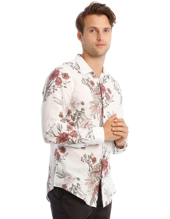 Wonder Floral Slim Long-Sleeve Shirt In White image 2