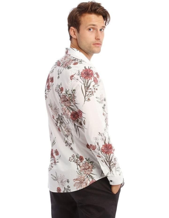 Wonder Floral Slim Long-Sleeve Shirt In White image 3