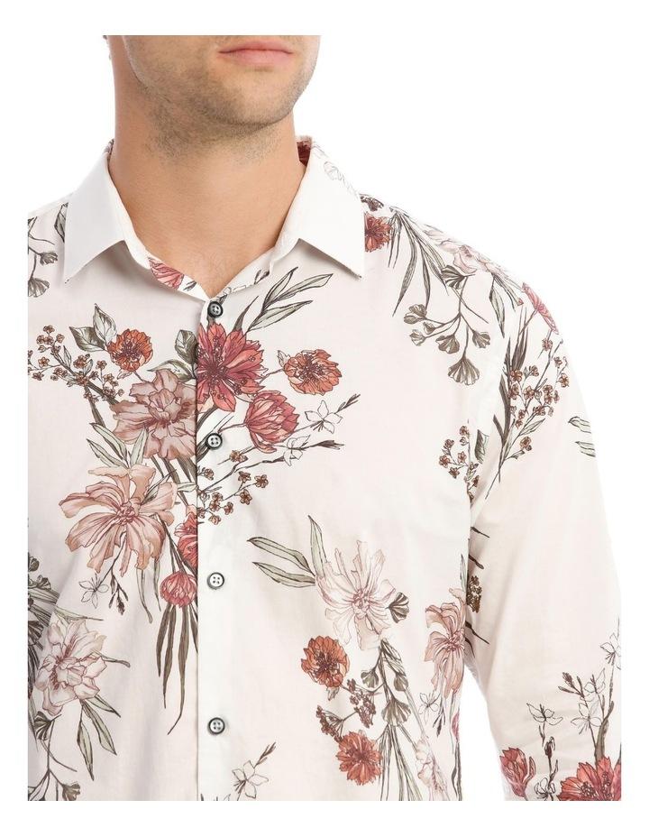 Wonder Floral Slim Long-Sleeve Shirt In White image 4