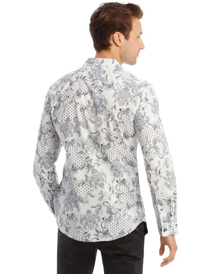 Nicks Floral Slim Long-Sleeve Shirt In Blue image 3