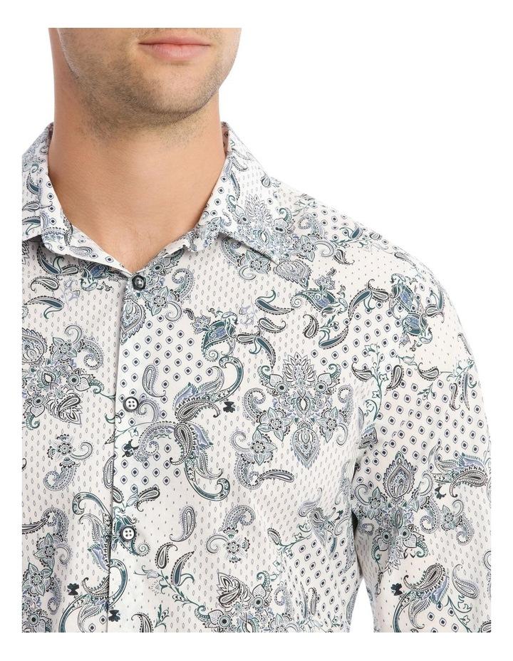Nicks Floral Slim Long-Sleeve Shirt In Blue image 4