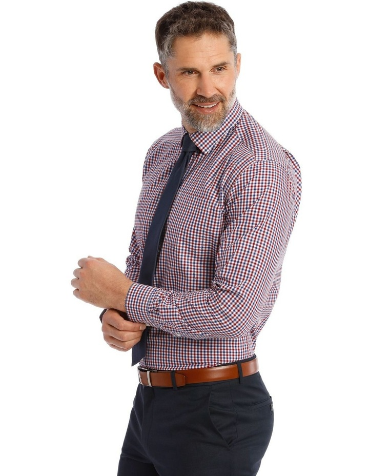Classic Fit Red and Blue Gingham Shirt image 2