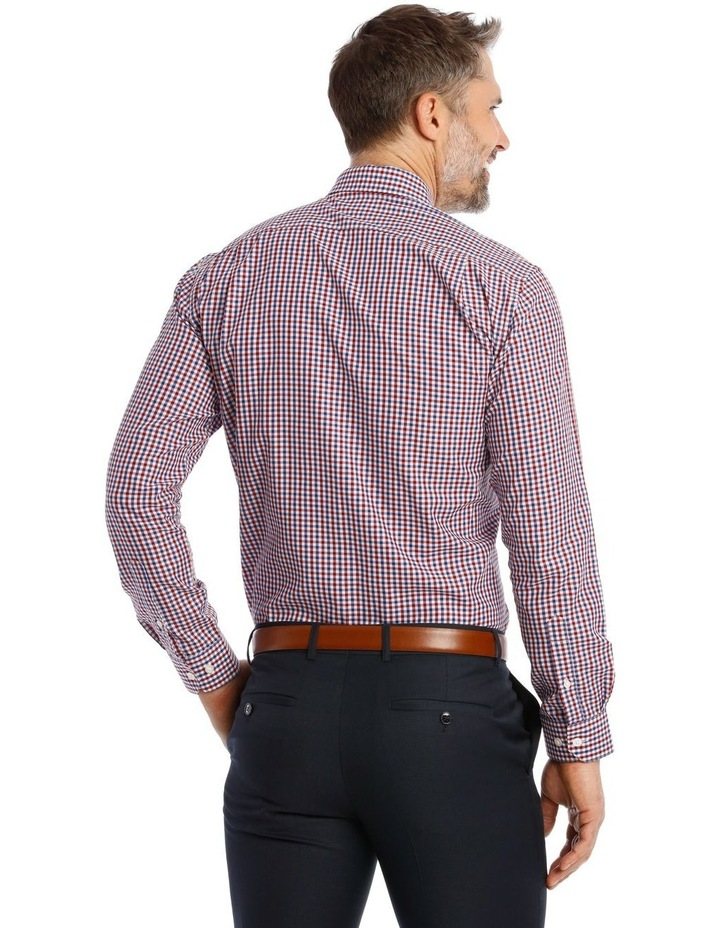 Classic Fit Red and Blue Gingham Shirt image 3