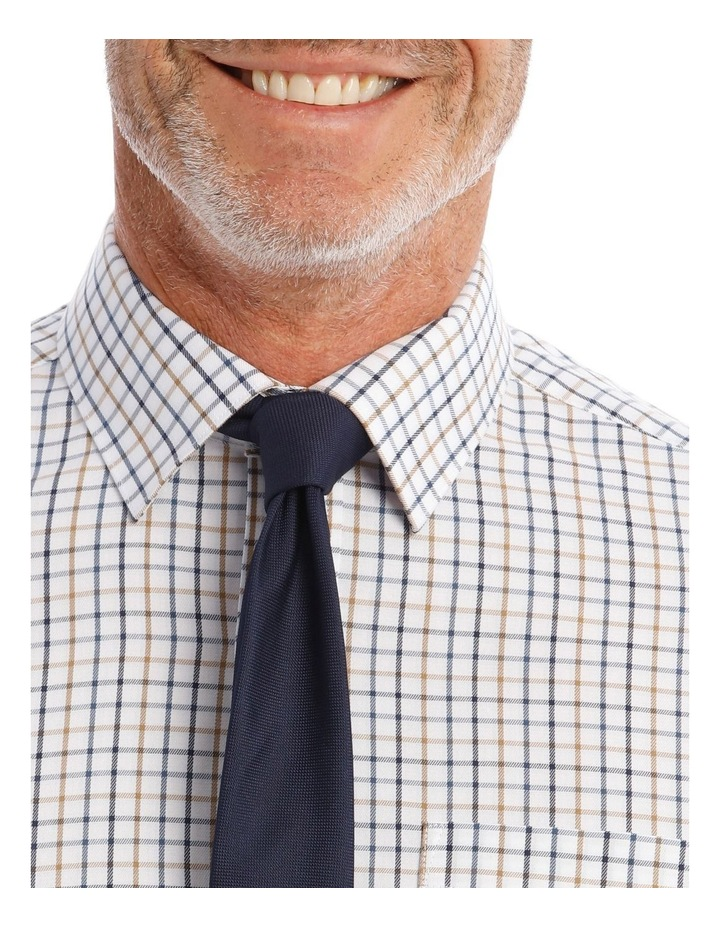 Classic-Fit Tan And Blue Grid Check image 2