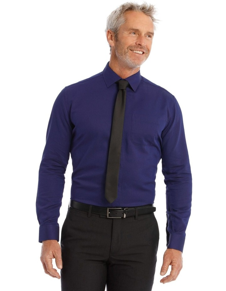 Classic Fit Twill Shirt In Royal image 1