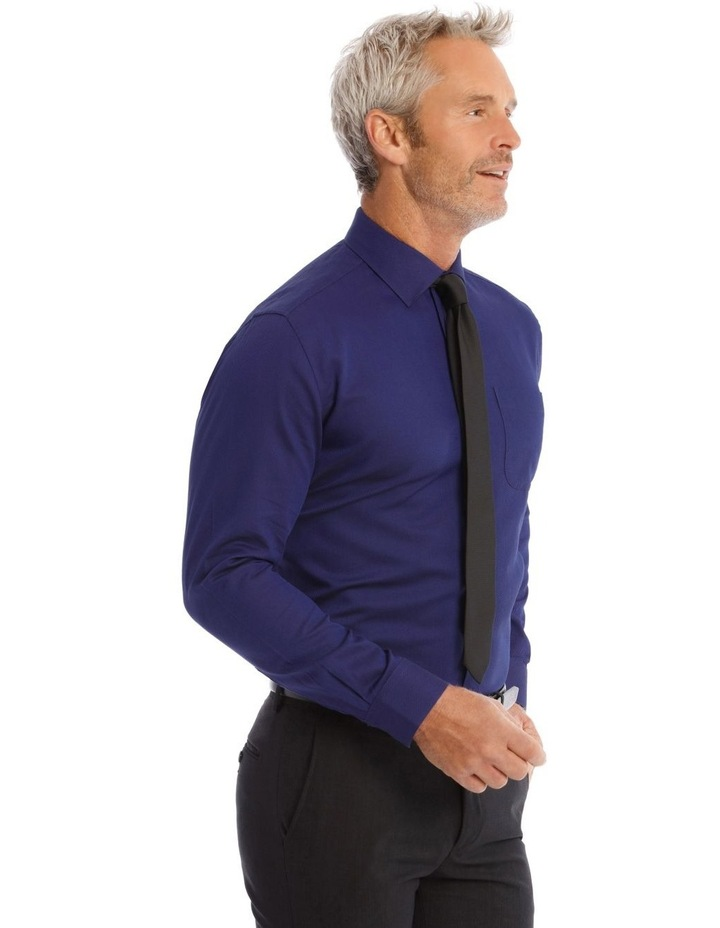 Classic Fit Twill Shirt In Royal image 3