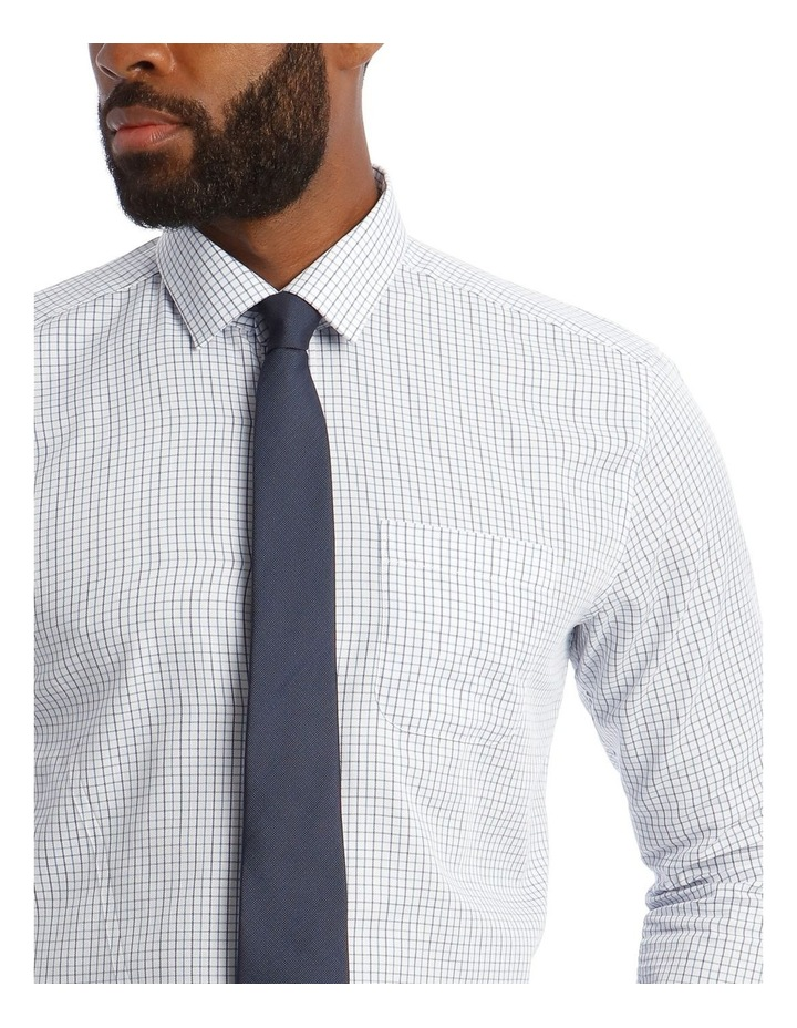 Classic Fit Blue Grid Check Shirt image 4